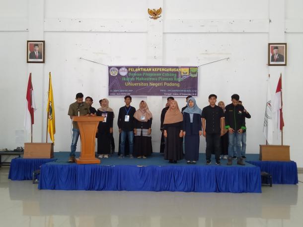 Pelantikan Kepengurusan DPC IMAPAR  UNP, Ajak Mahasiswa Berorganisasi