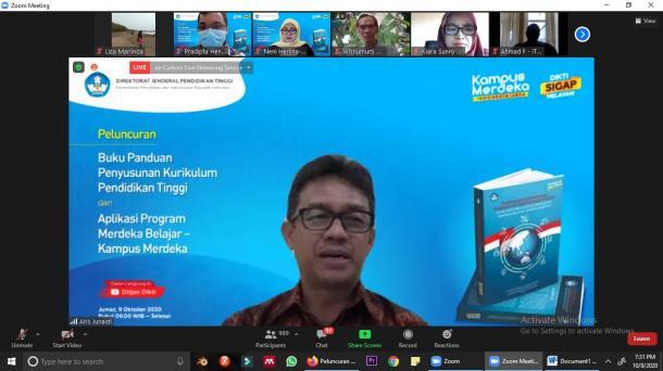Ditjen Dikti Luncurkan Buku Panduan Penyusunan Kurikulum PT...