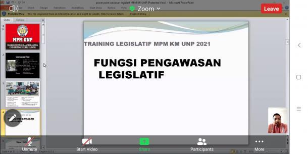 Training Legislatif MPM KM UNP: Organisasi Kemahasiswaan di UNP Bersifat Independen