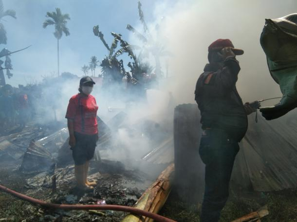Ditinggal Penghuni, Rumah di Simpang Jawi Kota Padang Kebakaran