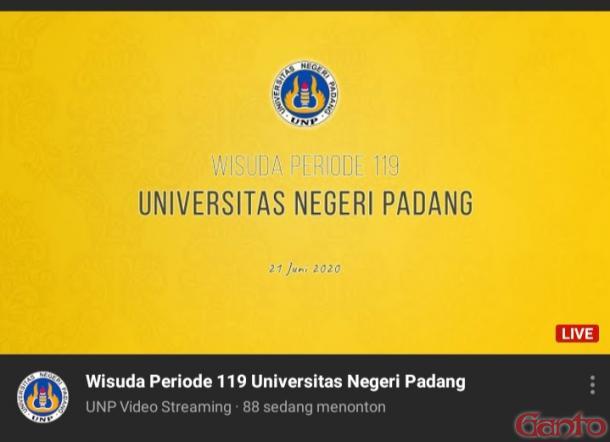 Periode 119 Juni 2020, UNP Laksanakan Rapat Wisuda Virtual