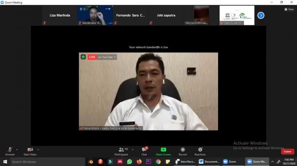 Badan Pengelola Geopark Nasional Sawahlunto Adakan Seminar Virtual