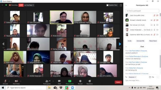 Seminar BEM KM FBS UNP : Sumbar Butuh Pemimpin Seperti Apa