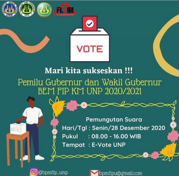 PPU FIP UNP Gelar E-Voting Calon Gubernur dan Wakil Gubernur BEM FIP