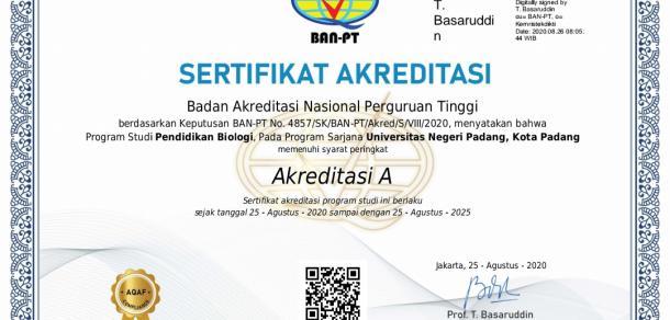 Raih Akreditasi A, Prodi Pendidikan Biologi UNP Persiapkan Sertifikasi Internasional ASIIN
