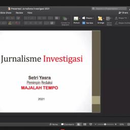 Setri Yasra: Teknik dan Etika Jurnalistik Investigasi