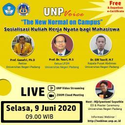 UNP Adakan Webinar Sosialisasi KKN