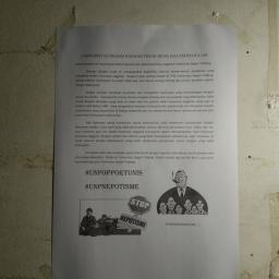 Selembaran Kertas Kritikan Beasiswa Unggulan Tersebar di Beberapa Mading Fakultas UNP