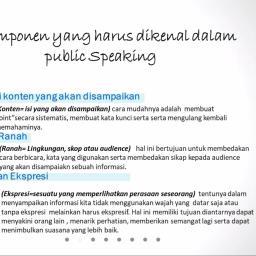 Tiga Komponen Penting dalam Public Speaking