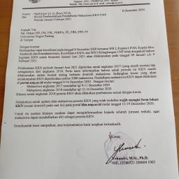 Kejelasan KKN UNP Periode Januari-Februari 2021