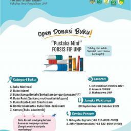 Perpustakaan Mini Forsis FIP UNP, Open Donasi Buku