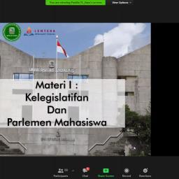 MPM Unand Mengadakan Training Legislatif 2020