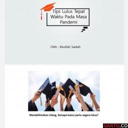 Musfiah Saidah : Tips Lulus Tepat Waktu