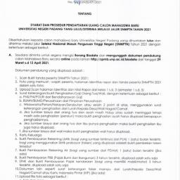 Syarat dan Prosedur Pendaftaran Ulang Calon Mahasiswa Baru UNP
