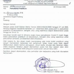 Tanggapan Himpunan Mahasiswa Mengenai Pemindahan Jadwal Kuliah  Praktik Juli-Desember